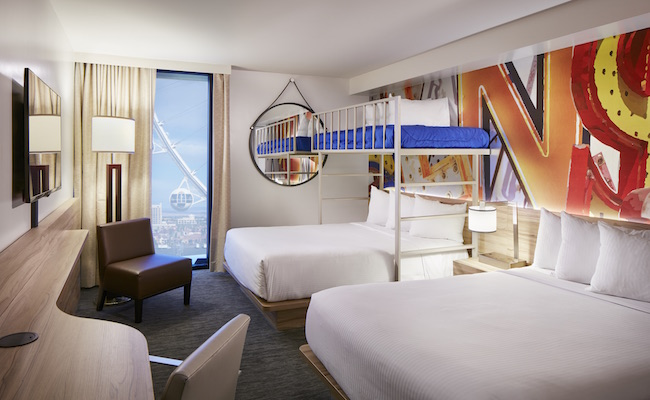 The Linq Hotel Offers First Bunk Beds On The Vegas Strip