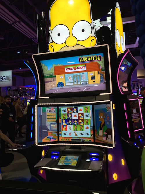Simpsons slot machine las vegas locations blackjack alligator tail boots