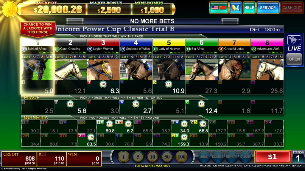 Fortune Cup Betting Screen